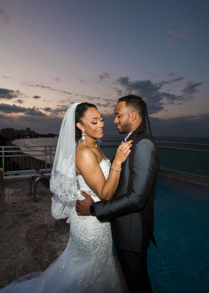 Water Beach Club Hotel Wedding San Juan Black Nuptials