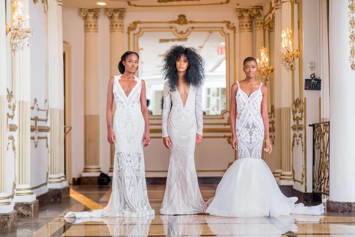 5 black wedding dress designers you should be wearing down for Black designer wedding dresses