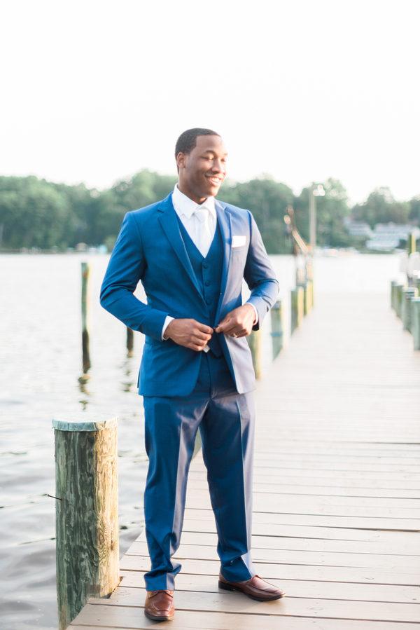 Styled Lakeside Wedding In Annapolis Maryland Black