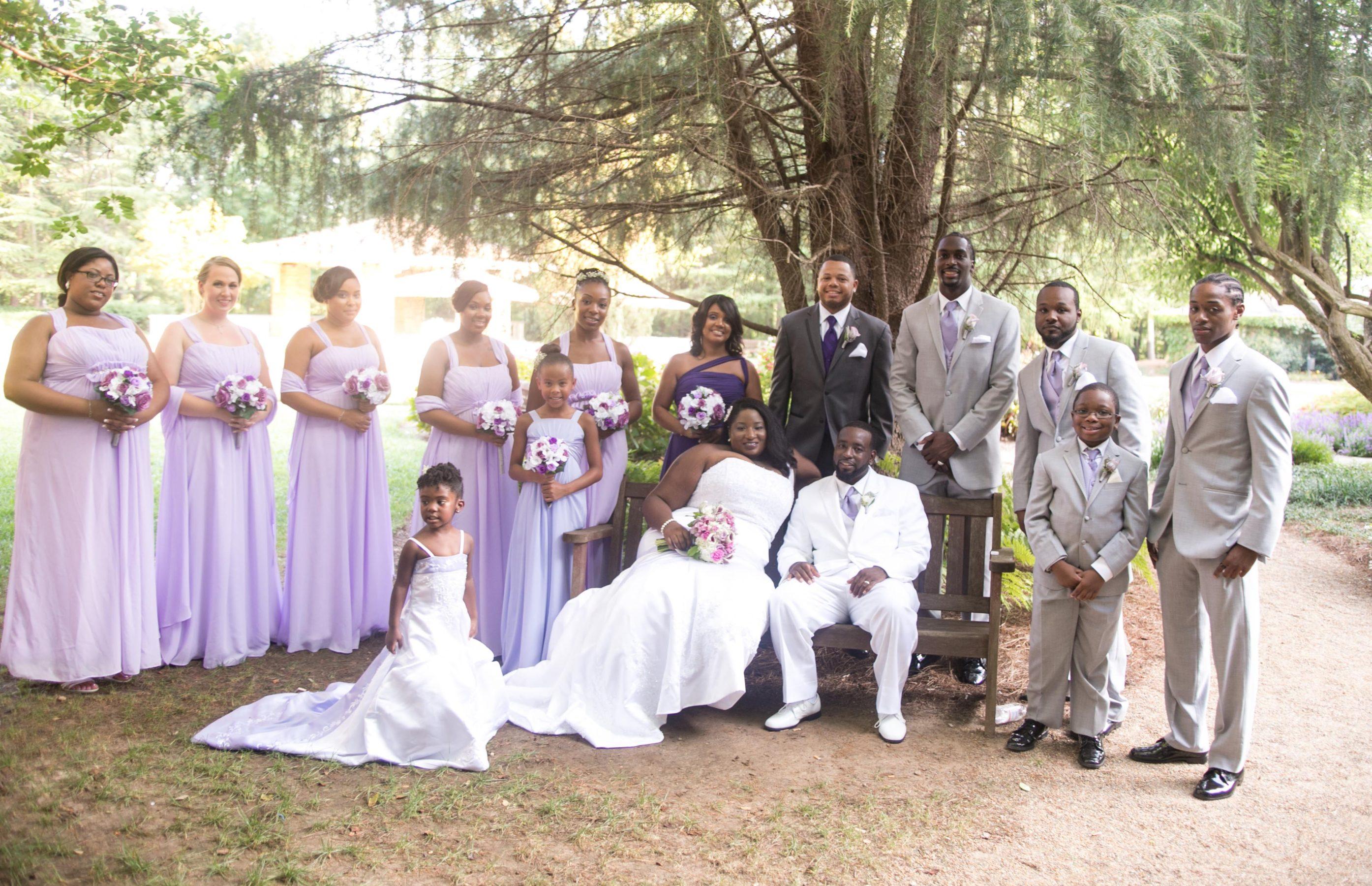 Snapshot: Lavender Elegance in Atlanta - Black Nuptials