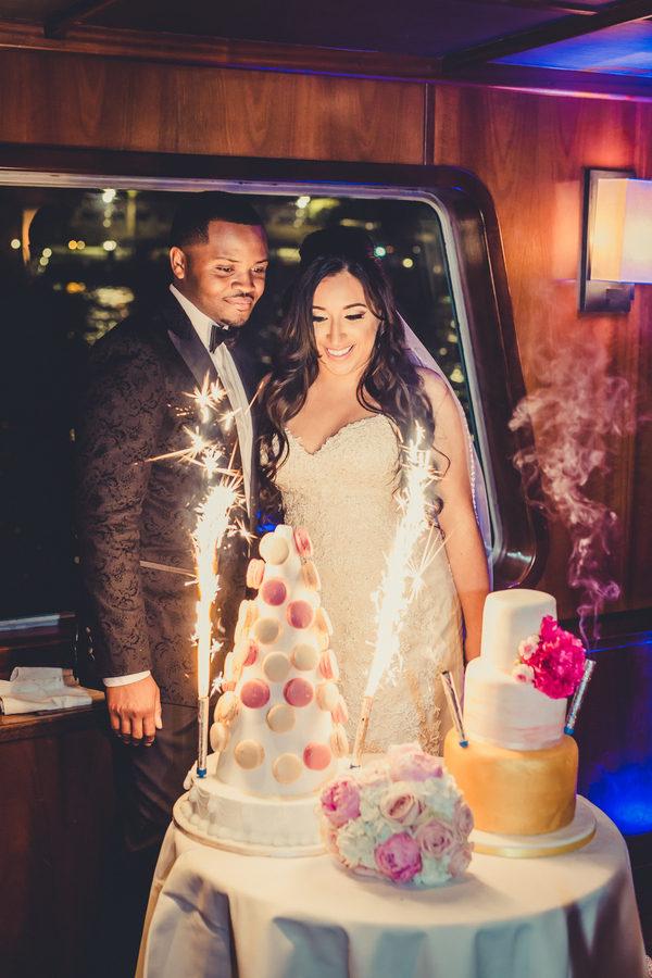 Elegant River Boat Paris Wedding Black Nuptials