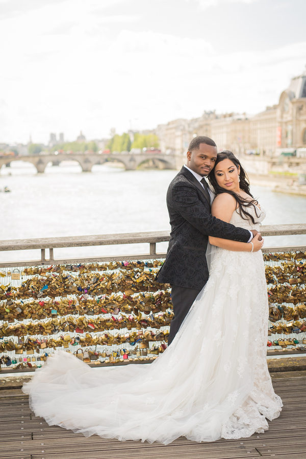 Elegant River Boat Paris Wedding Black Nuptials