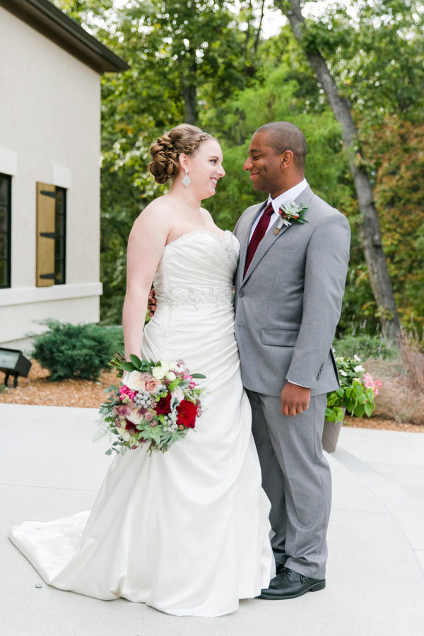 Fall wedding with two grooms women st louis mo for Wedding dress shops st louis mo