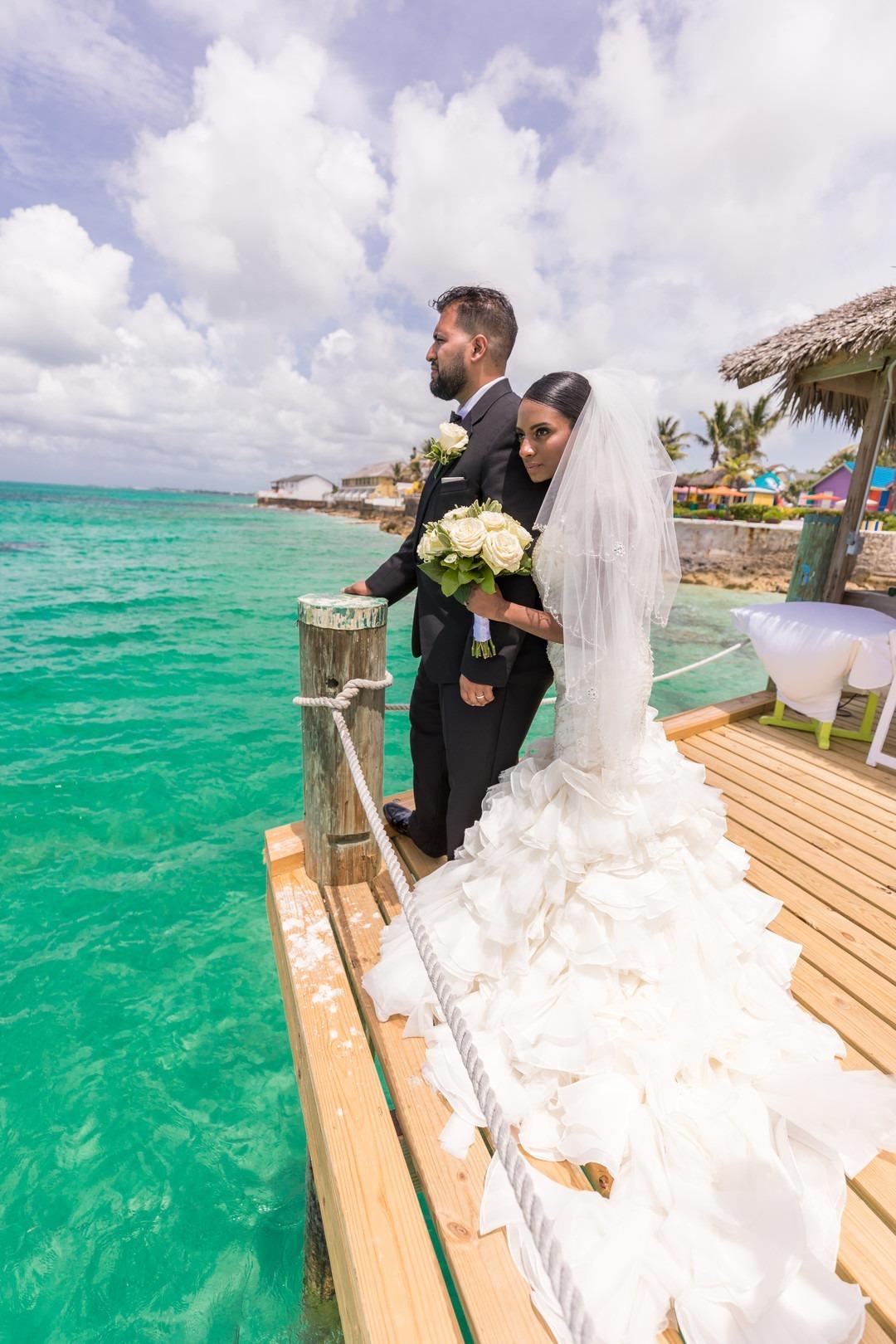 Compass Point Beach Resort Wedding Bahamas Black Nuptials